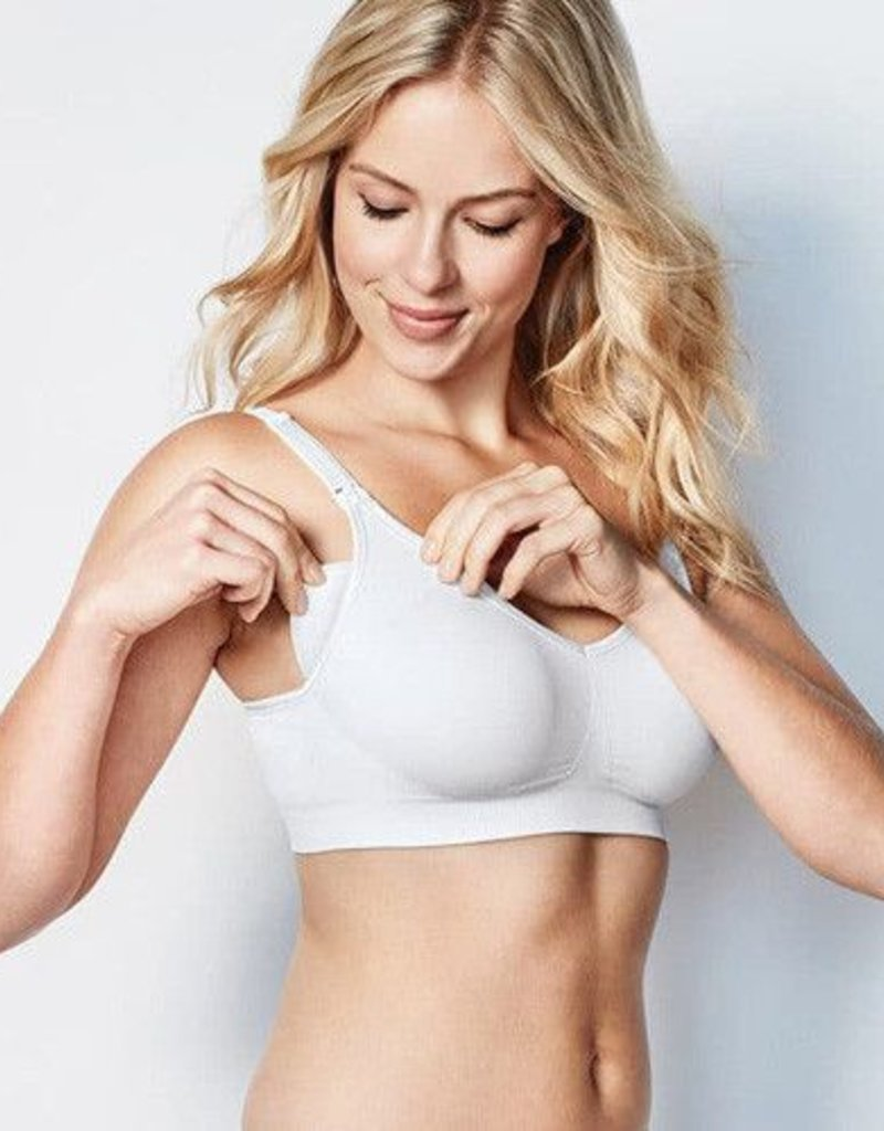 Bravado Designs Soutien-gorge d'allaitement body silk seamless blanc