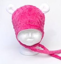 Bébé Ô chaud Tuque à oreilles d'ours Fuchsia