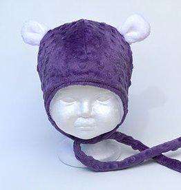 Bébé Ô chaud Tuque à oreilles d'ours Mauve
