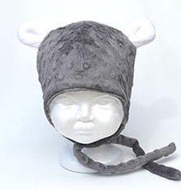 Bébé Ô chaud Tuque à oreilles d'ours Grise