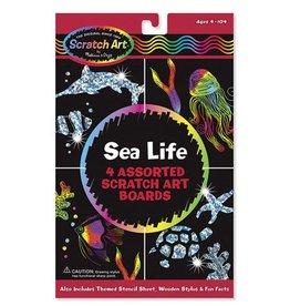 Melissa et Doug Scratch art Cartes à gratter Vie marine