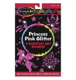 Melissa et Doug Scratch art Cartes à gratter paillettes roses princesse