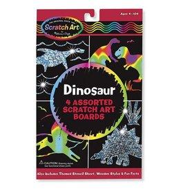 Melissa et Doug Scratch art Cartes à gratter dinosaures