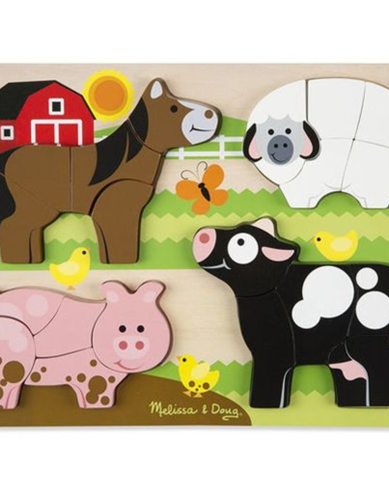 Melissa et Doug Casse-tête à grosses pièces - animaux de la ferme