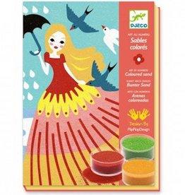 Djeco Sables colorés Belles en balade