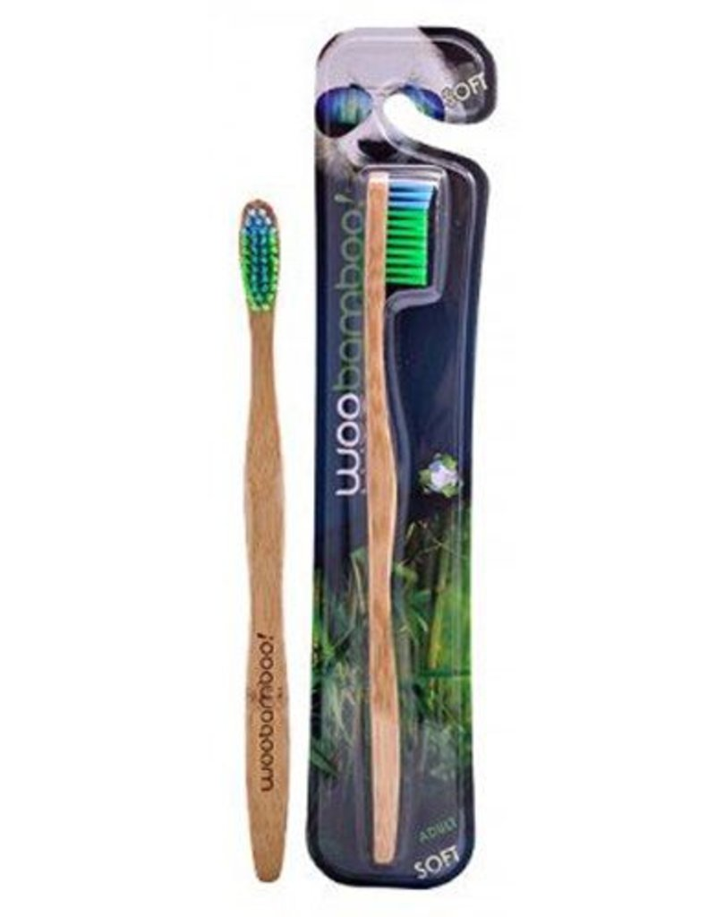 Woobamboo Brosse à dents en bambou pour adultes