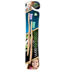 Woobamboo Brosse à dents pour enfant paquet de 2