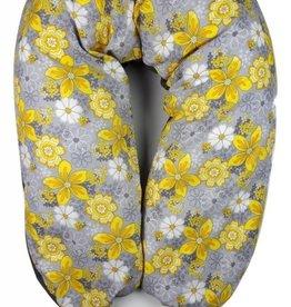 Coussin Etc Coussin d'allaitement Fleurs citronnelle