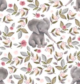 Oops Doudou étiquette en minky Éléphant