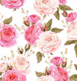 Oops Doudou étiquette en minky Fleurs