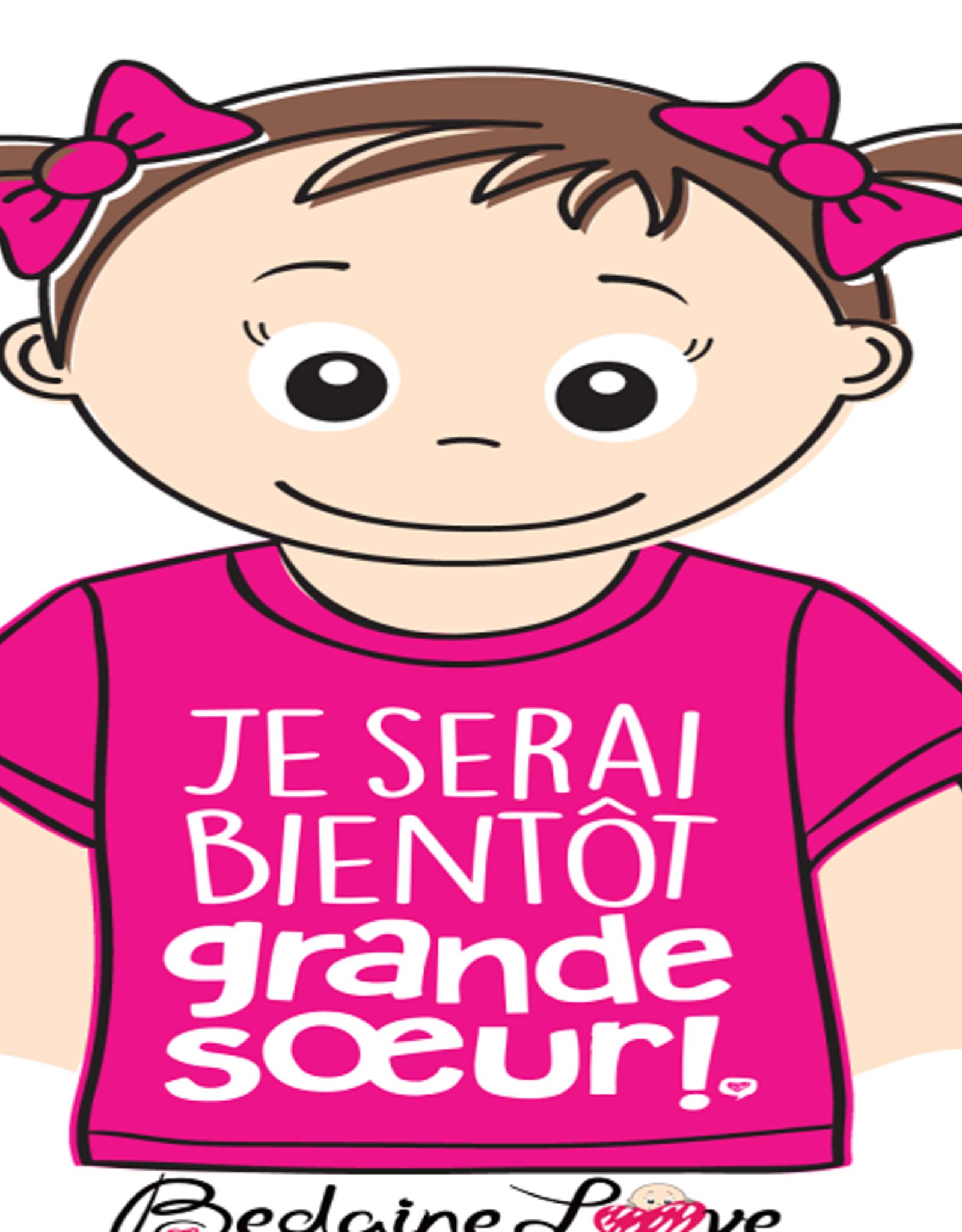 Bedaine love Je serai bientôt grande soeur rose