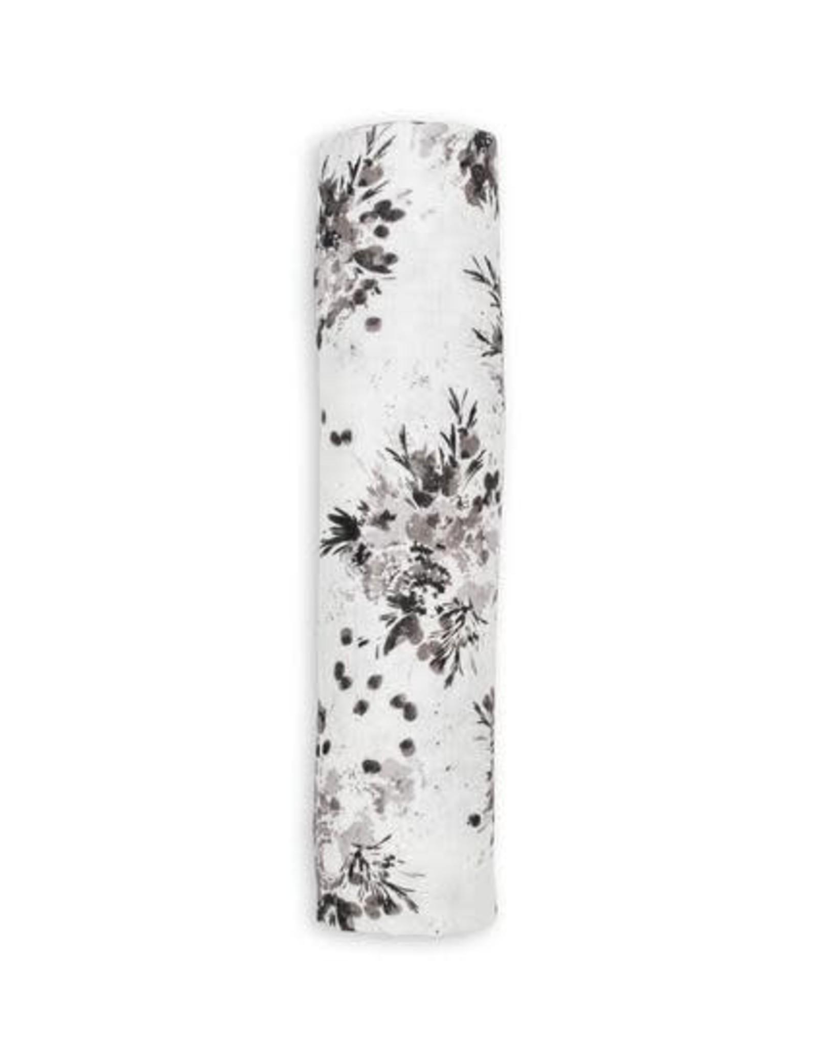 Lulujo Doudou mousseline bambou black floral