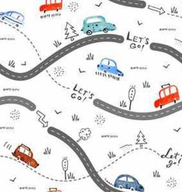 Oops Doudou étiquette en minky route