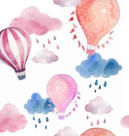 Oops Doudou étiquette en minky montgolfière
