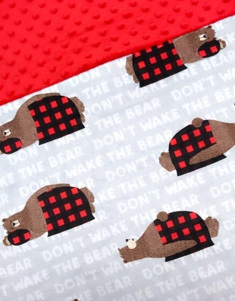 Oops Doudou étiquette en minky bear pastel