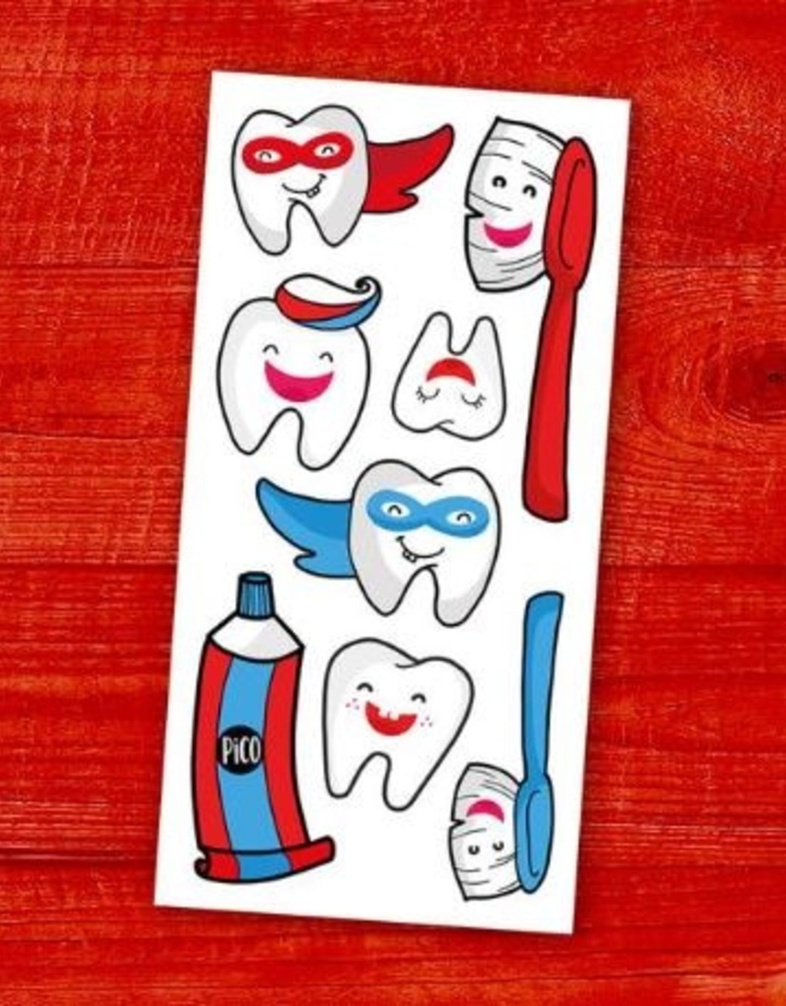 Pico Tatouage Tatouage temporaire Brosse tes dents