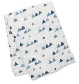 Lulujo Doudou mousseline bambou Navy triangle