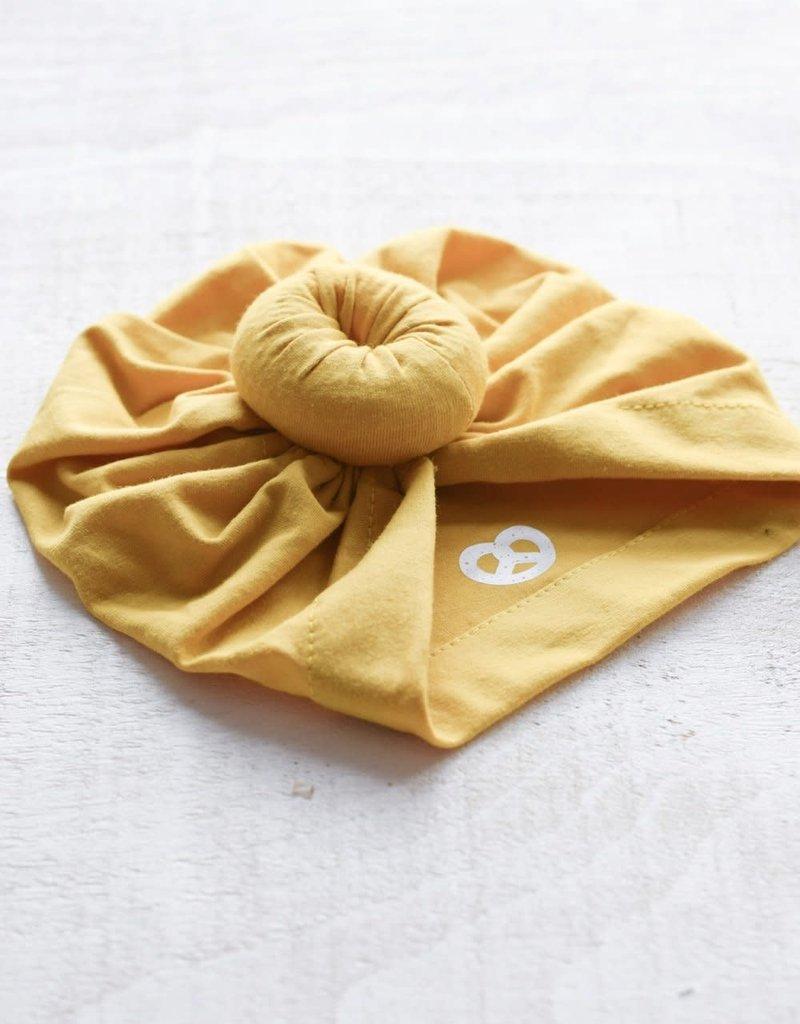 Mini Bretzel Turban Jaune