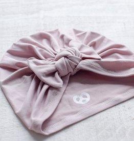 Mini Bretzel Turban Premium avec boucle Rose blush