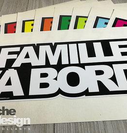 Affiche ton Design Autocollant Famille à bord blanc