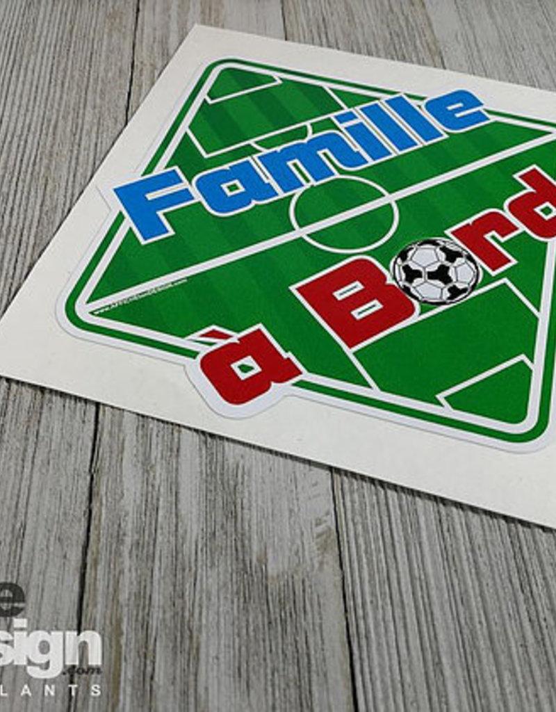 Affiche ton Design Autocollant Famille à bord soccer