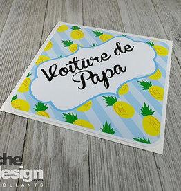 Affiche ton Design Autocollant voiture de papa Ananas