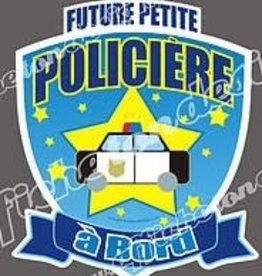 Affiche ton Design Autocollant Future petite policière à bord