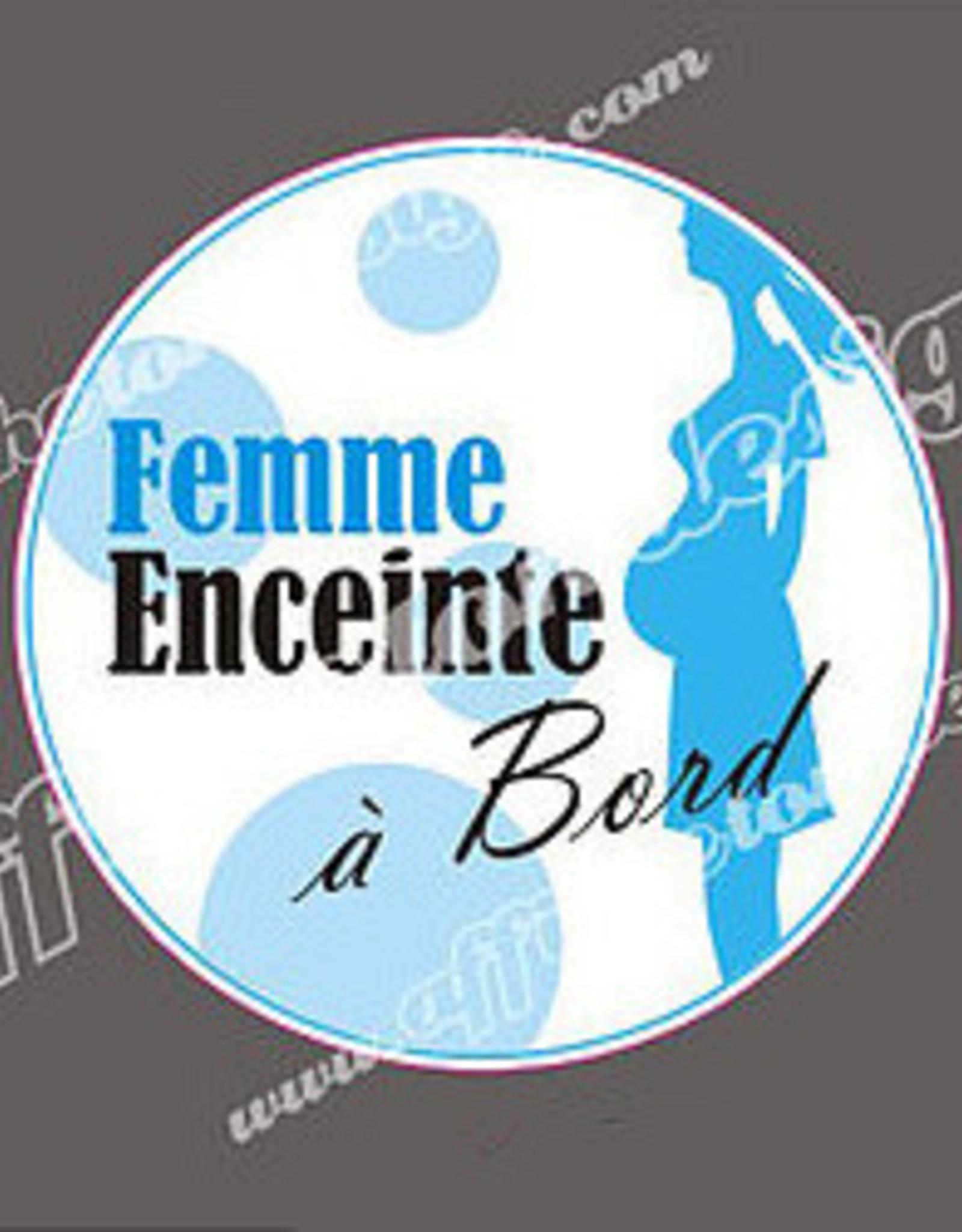 Affiche ton Design Autocollant Femme enceinte à bord Bleu