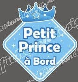 Affiche ton Design Autocollant petit prince à bord