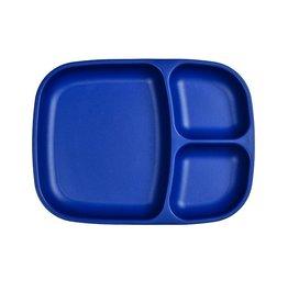 Re play Assiette large à compartiments en plastique recyclé bleu foncé