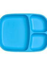 Re play Assiette large à compartiments en plastique recyclé bleu