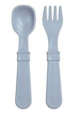 Re play Cuillères et Fourchettes en plastique recyclé gris