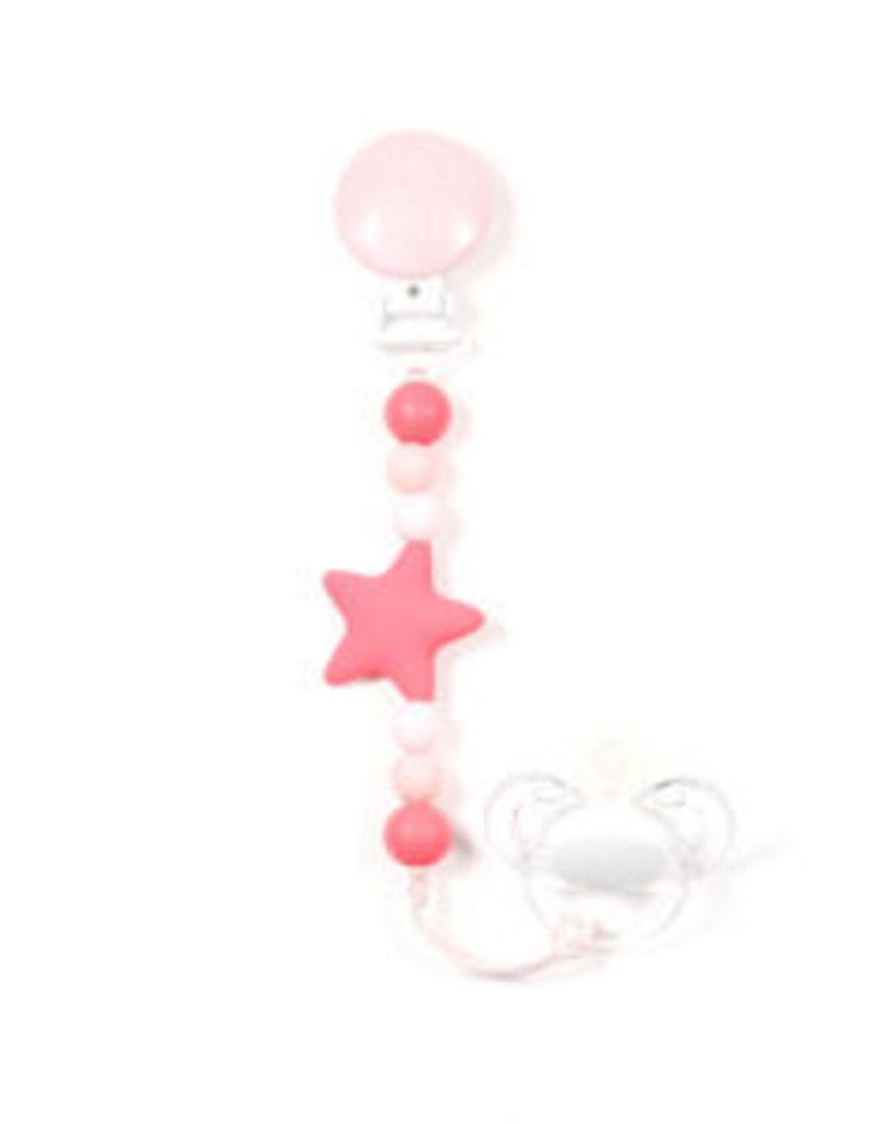 Bulle Bijouterie pour mamans Attache-suce étoile Nano corail, rose pastel & rose bonbon