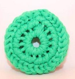 Crochet écolo Tampon à récurer vert