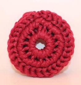 Crochet écolo Tampon à récurer bourgogne