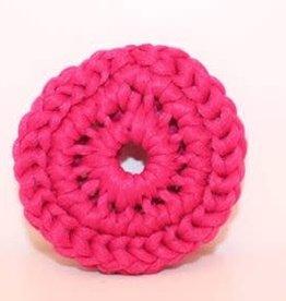 Crochet écolo Tampon à récurer fushia