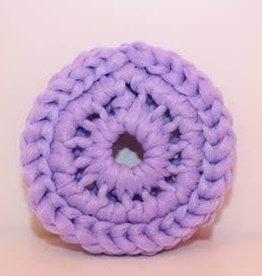 Crochet écolo Tampon à récurer lilas