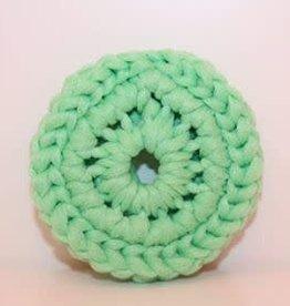 Crochet écolo Tampon à récurer menthe