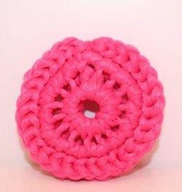 Crochet écolo Tampon à récurer rose