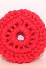 Crochet écolo Tampon à récurer rouge