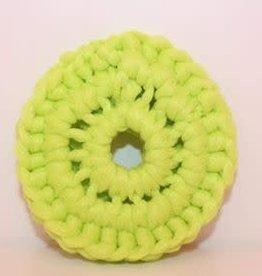 Crochet écolo Tampon à récurer Vert lime