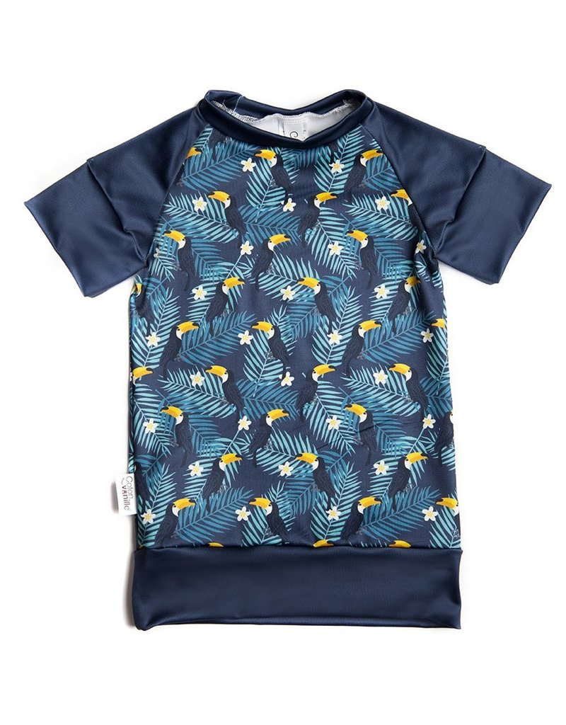 Coton Vanille Maillot évolutif toucans
