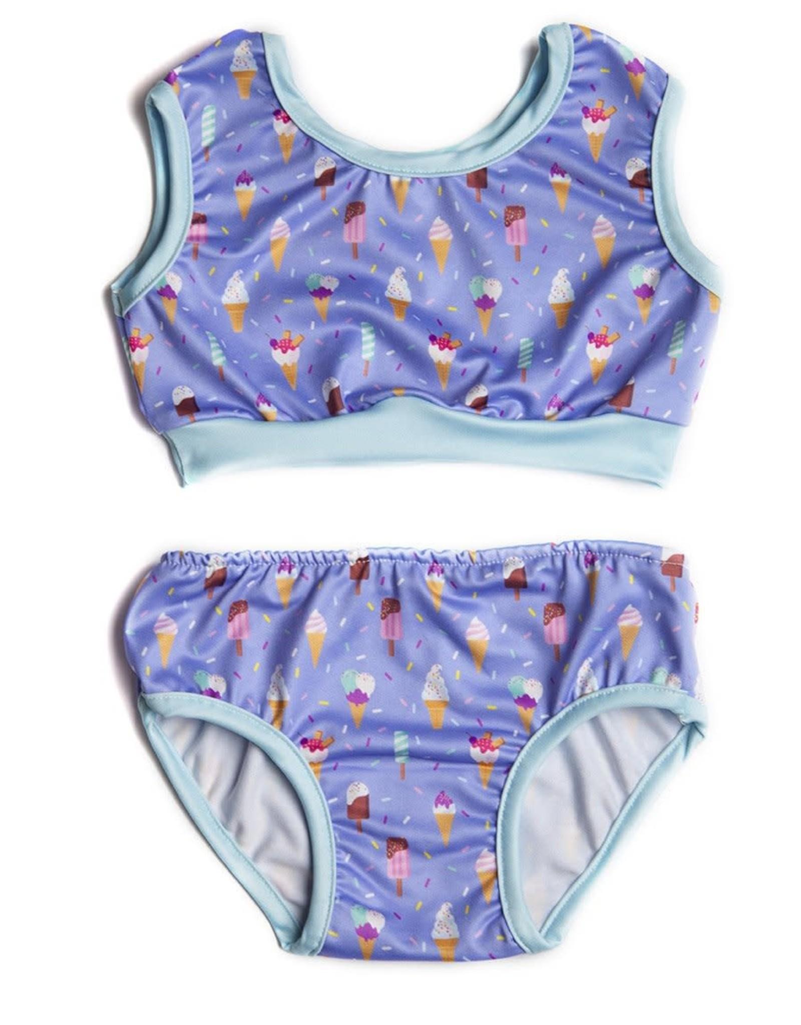 Coton Vanille Maillot évolutif bikini deux pièces crème glacée