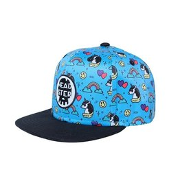 Headster kids Casquette unicorn party blue