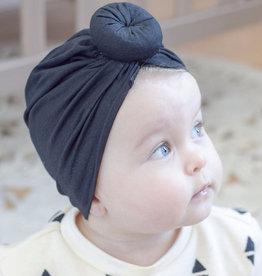 Mini Bretzel Turban Noir