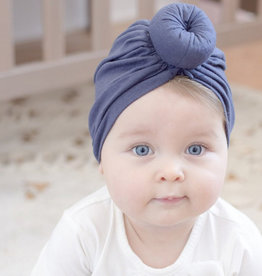 Mini Bretzel Turban Bleu Marin