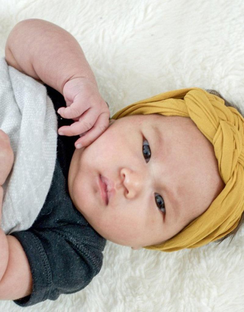Mini Bretzel Bandeau Twinning bébé Jaune Moutarde