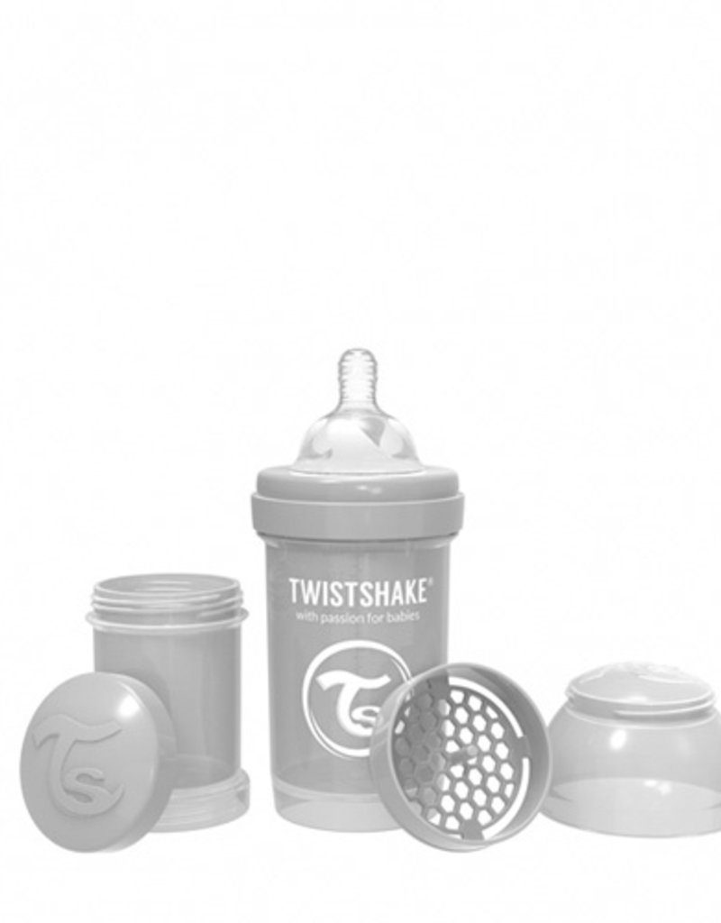 Twistshake Biberon anti-coliques 180 ml Gris Small