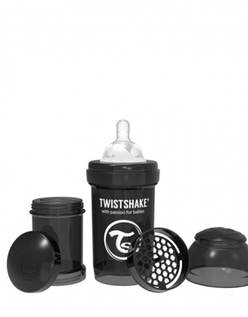 Twistshake Biberon anti-coliques 180 ml Noir Small