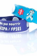 Secallergies Bracelet d'intolérance: ne pas nourrir seipa/fpies